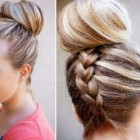 Long hair easy updos
