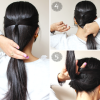 Long hair simple updos