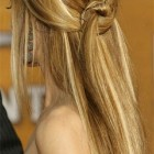 Long straight hair updos