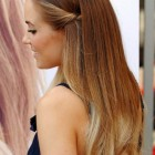 Simple hairdos for long straight hair