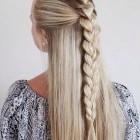 Braids on long hair