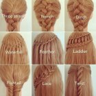 Different hairstyles for braided hair