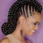 Different styles for braided hair