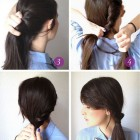 Easy hair style at home