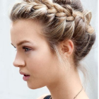Hair in a braid