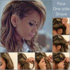 One side braid hairstyles