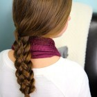 Regular braid hairstyles