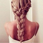 Thick braided hair
