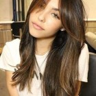 Side bangs with long hair 2020