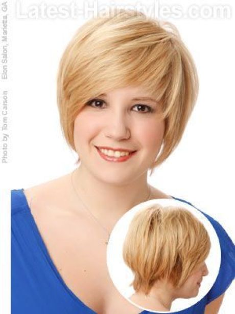 Short haircuts 2021 for round faces