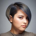 Flattering short hairstyles for fat faces