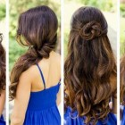 Hairdos for long curly hair