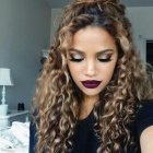 Hairstyle designs for curly hair