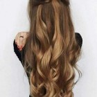 Long styled hair