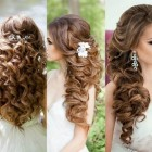 Party hairstyles for curly hair
