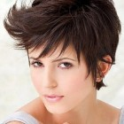Short haircut for round face girl