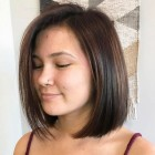 Short haircuts for people with round faces