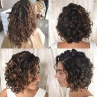 Short layers curly hair