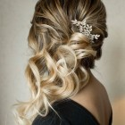 Bridesmaid hair to the side
