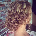 Curly hair updos for prom