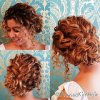 Curly hair updos