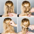 Easy evening updos
