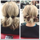 Easy hair updos for short hair
