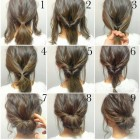 Easy low updo hairstyles