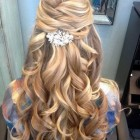 Easy prom hair down