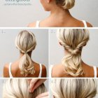 Easy up hairstyles for shoulder length hair