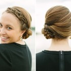 Elegant buns for medium length hair