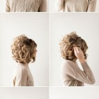 Evening updos for short hair