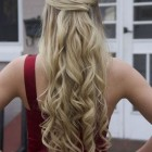 Long curly prom hair