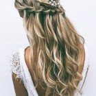 Long hair bridesmaid styles