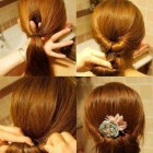 Party buns for long hair