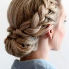 Prom updos with braids