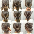 Quick and easy updo hairstyles