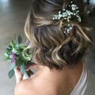 Short bridesmaid hair