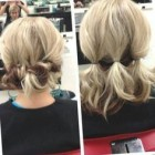 Shoulder hair updo