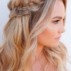 Simple formal hairstyles