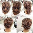 Simple updo hairstyles for short hair