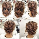 Up hairdos for medium length hair