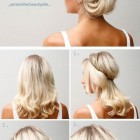 Updo hairstyles for medium long hair