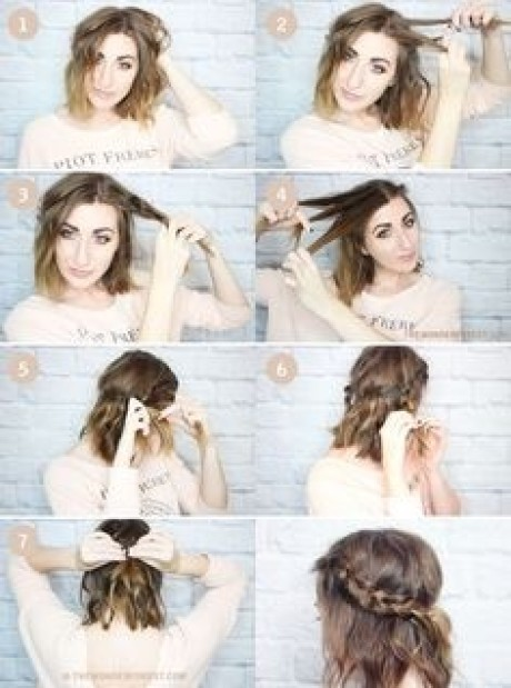At home hairstyles for short hair