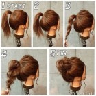 Easy casual updos for long hair