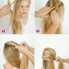Fast hairdos for long hair