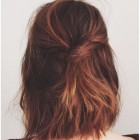 Shoulder length hair back view