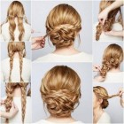 Updo hairstyles for long thick hair