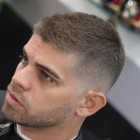 Very short hairstyle for men