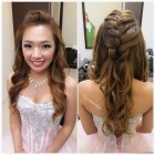 Hairdo for wedding dinner